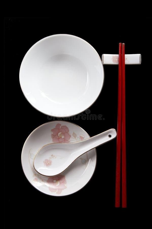 中国碗筷 免版税图库摄影