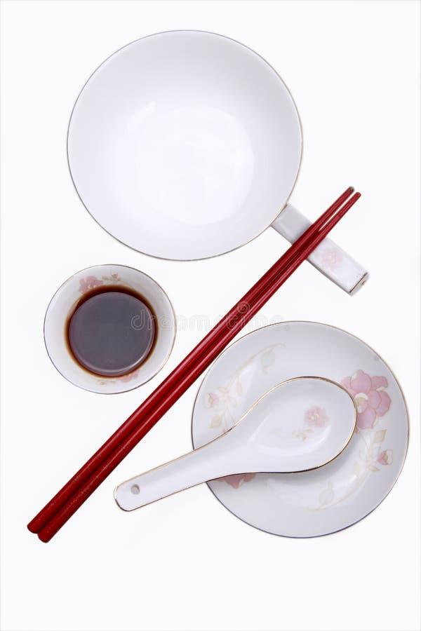 中国碗筷 库存图片