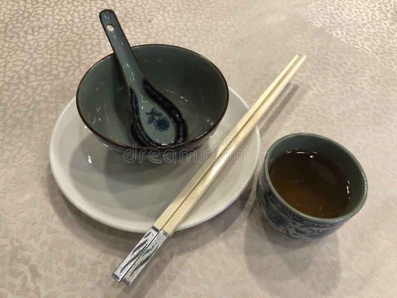 中国碗筷 库存照片