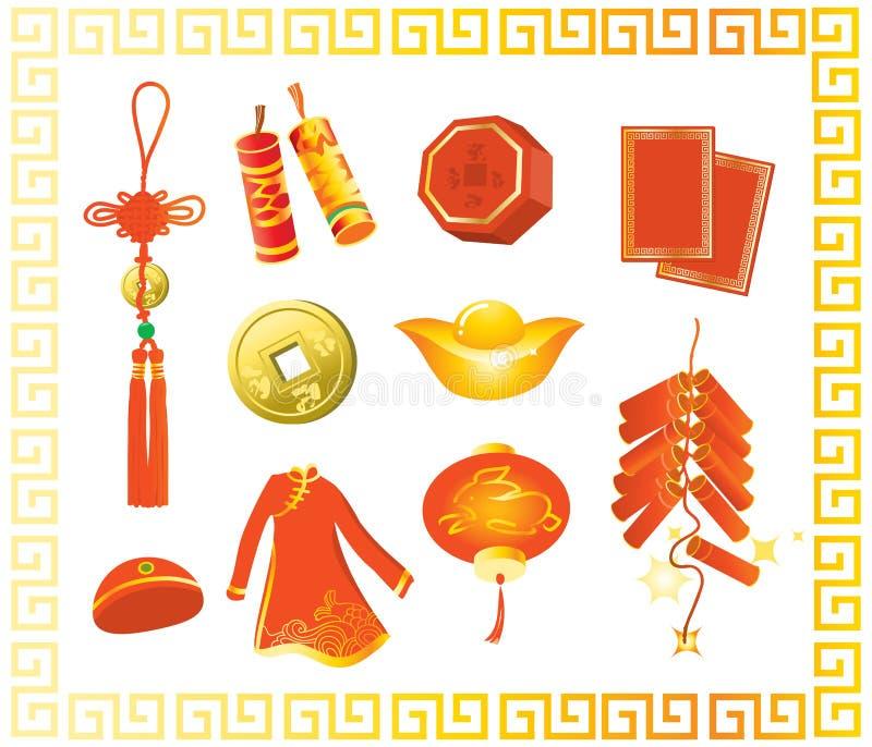 中国礼品新年度 皇族释放例证