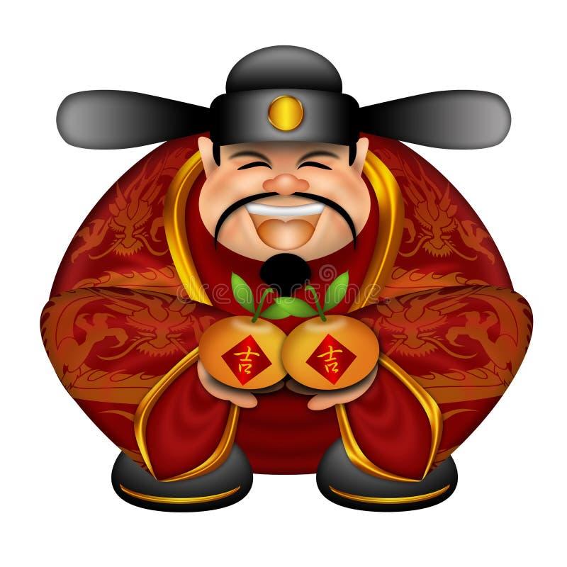 中国神普通话货币桔子 皇族释放例证