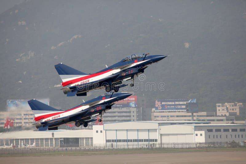 中国空军J10 & J10S 免版税库存图片