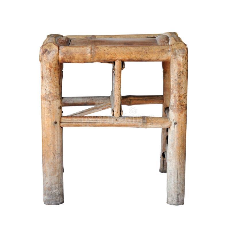 中国竹凳子(母亲&儿童椅子) 免版税库存照片