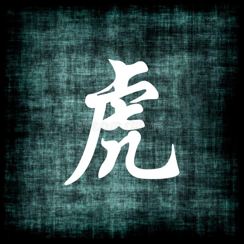 中国符号老虎黄道带 向量例证
