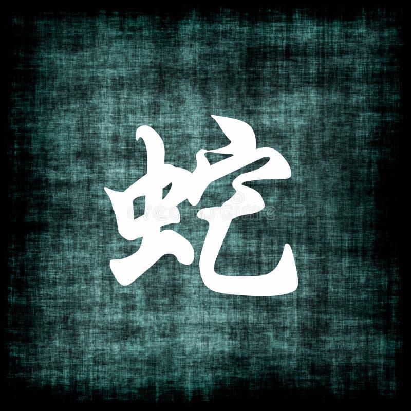 中国符号蛇黄道带 库存例证