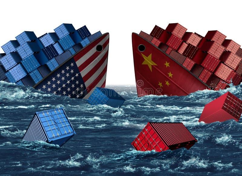 中国美国贸易麻烦 免版税库存图片