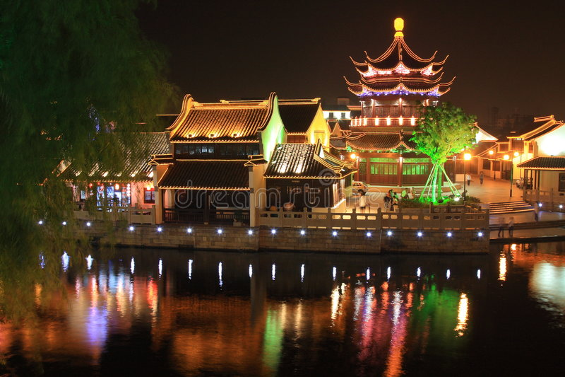 中国老城镇 免版税库存照片
