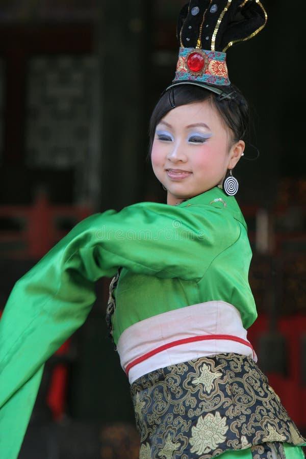 中国舞蹈演员女性 免版税图库摄影