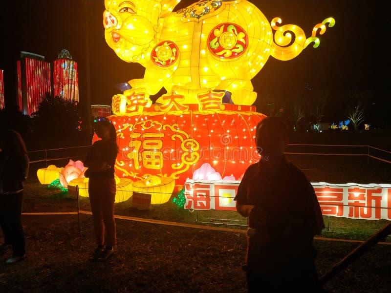 中国节日照明设备陈列 免版税图库摄影
