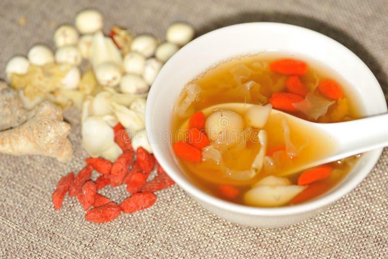 中国草本汤甜点 库存照片