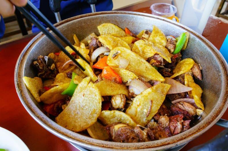 中国菜,羊肉 免版税库存照片