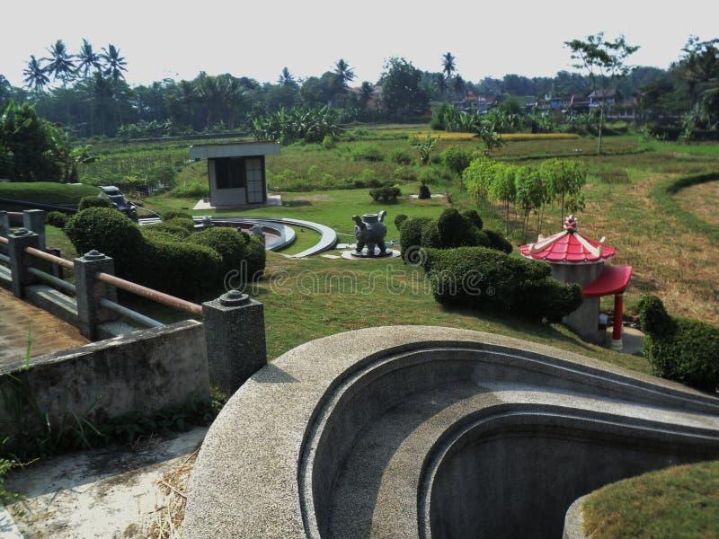 中国葬礼装饰风景  向量例证