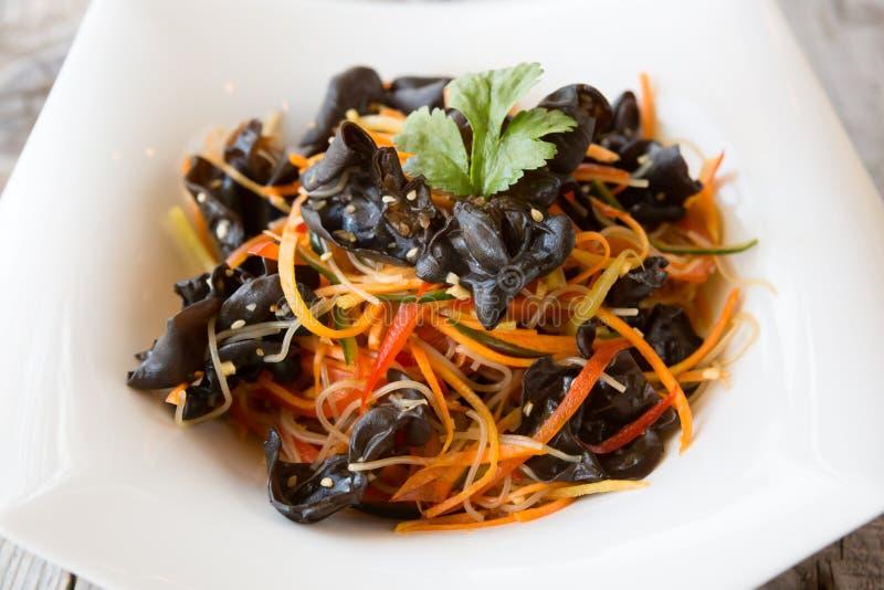 中国蘑菇快餐 免版税库存图片