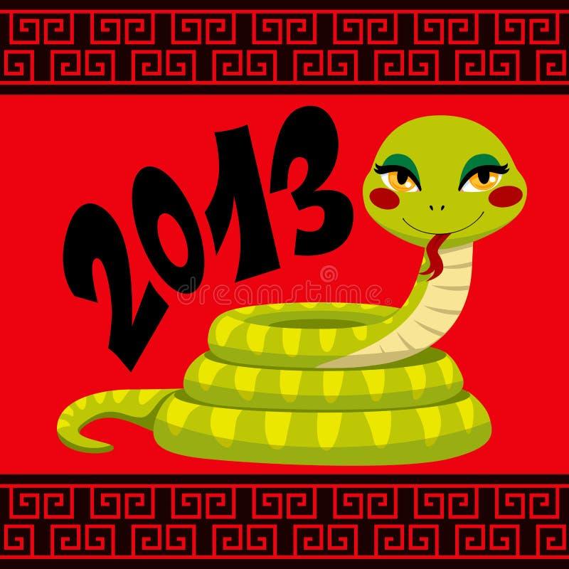 中国蛇年 向量例证