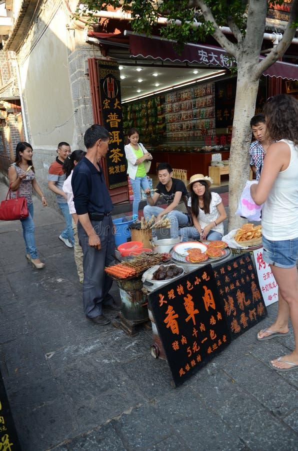 中国街道食物立场 免版税库存照片
