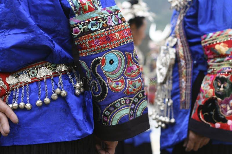 中国衣物少数民族国民 库存照片
