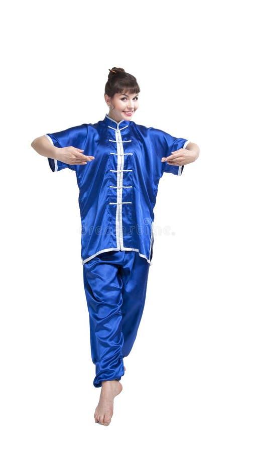 中国衣裳的妇女 免版税库存照片