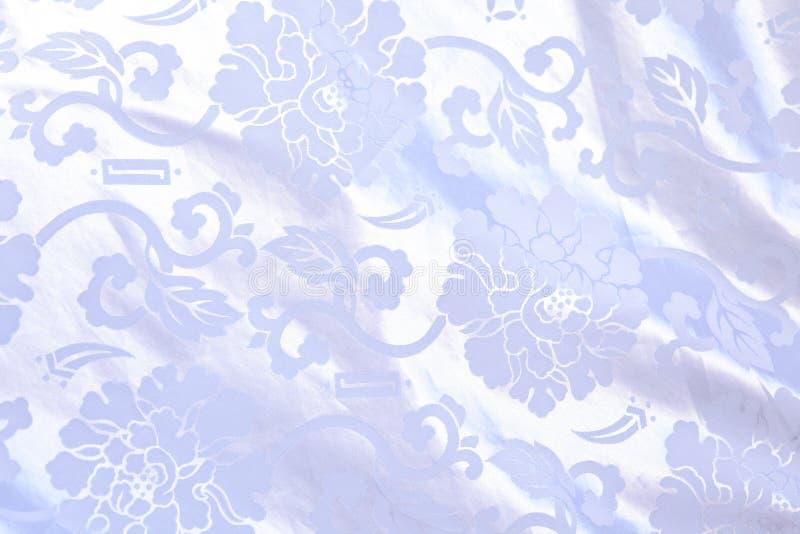 中国被装饰的丝绸 免版税库存照片