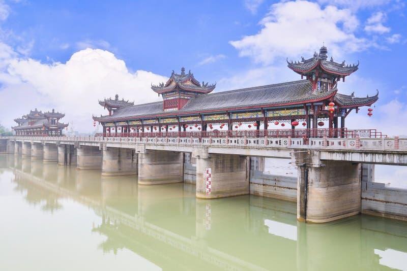 中国被遮盖的桥 库存图片