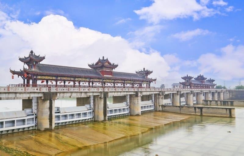 中国被遮盖的桥 免版税图库摄影