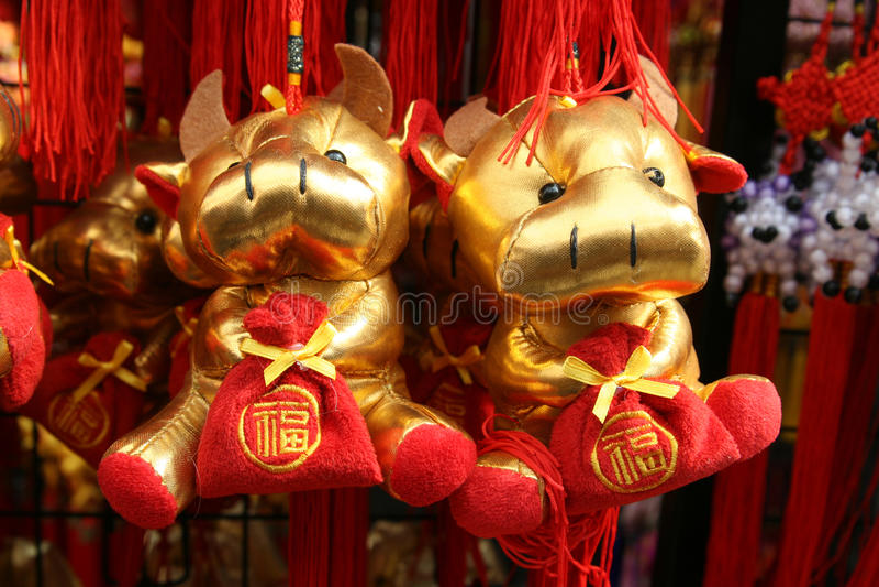 中国装饰月球新年度 免版税库存图片