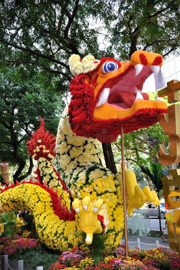 中国装饰龙新年度 免版税库存图片