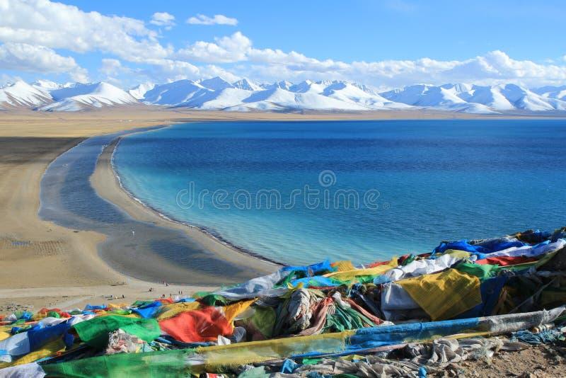 中国西藏,纳木错 图库摄影