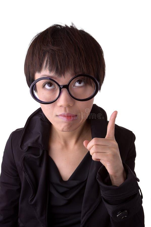 中国认为的妇女 免版税库存照片