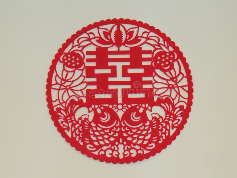 中国词幸福 免版税库存图片