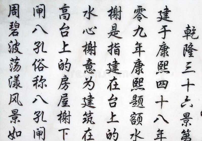 中国象形文字 免版税图库摄影