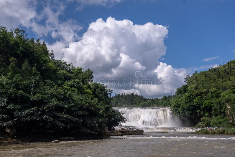 ????????? Cangpotang-Waterval, Guizhou, China stock foto