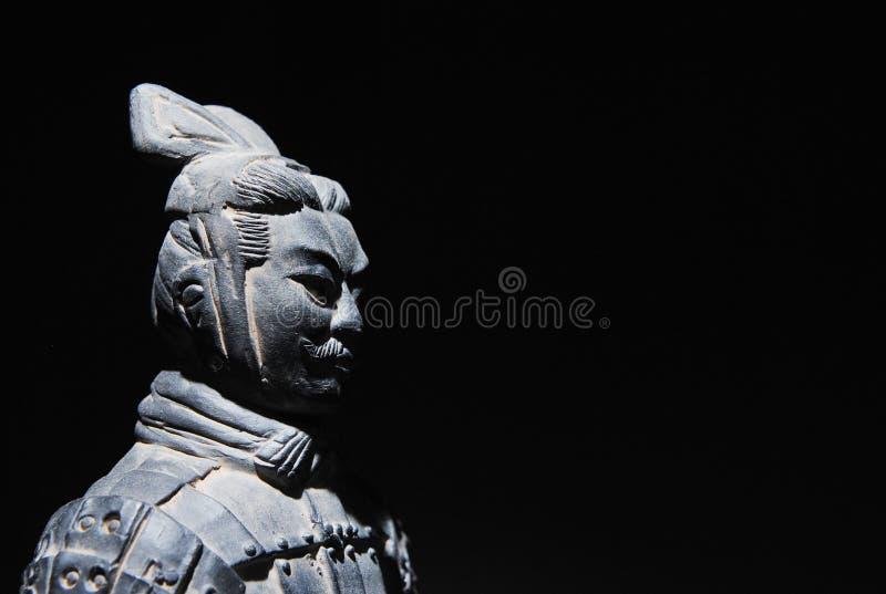 中国赤土陶器战士 免版税库存图片