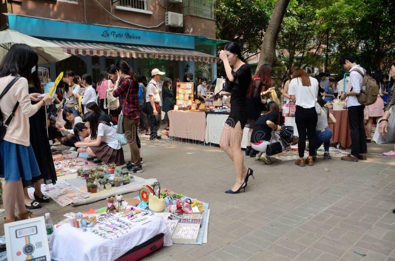 中国跳蚤市场在广州 免版税库存照片