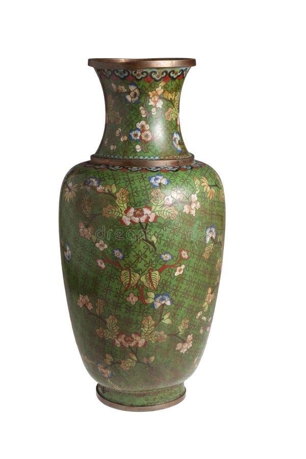 中国金属花瓶 免版税库存图片