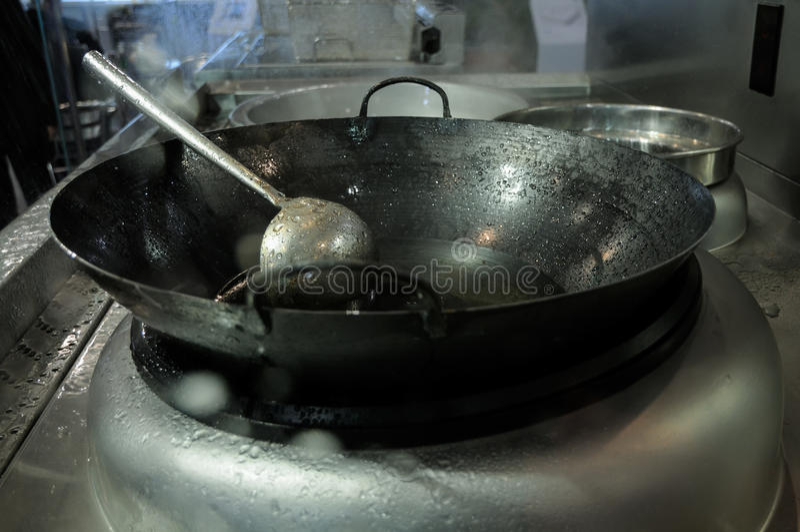 中国铁锅和特纳 图库摄影