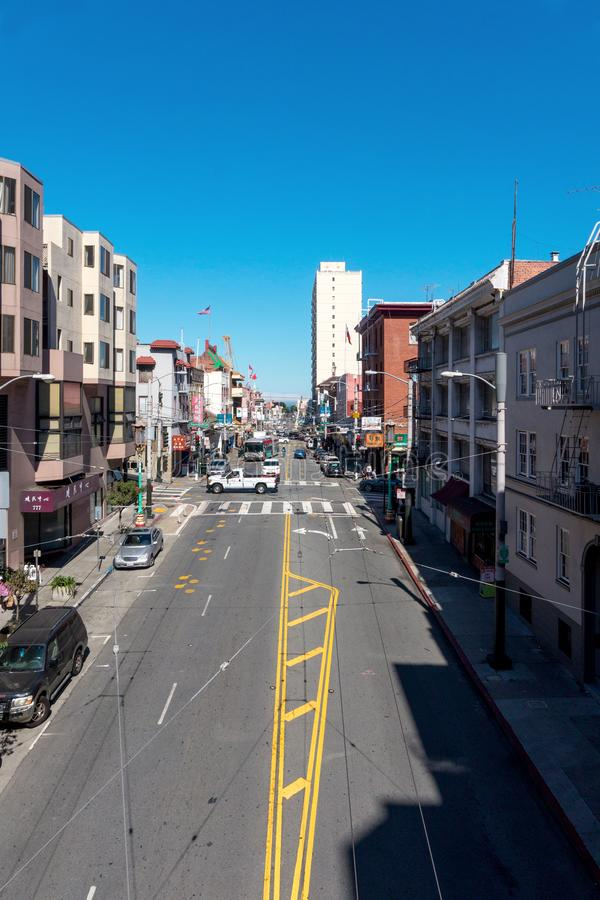 中国镇地区在旧金山 旧金山街道在中国镇 库存图片