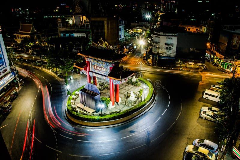 中国镇,曼谷,泰国 被采取的24/3/2017 库存图片