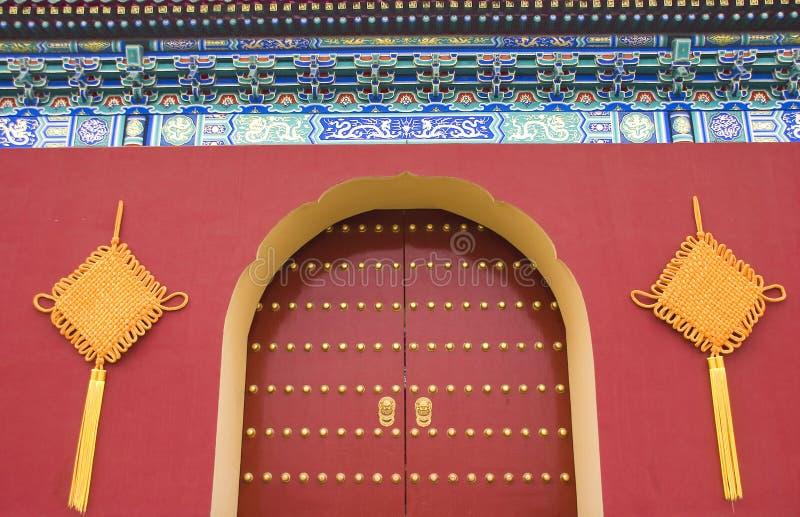 中国门皇家传统 库存图片
