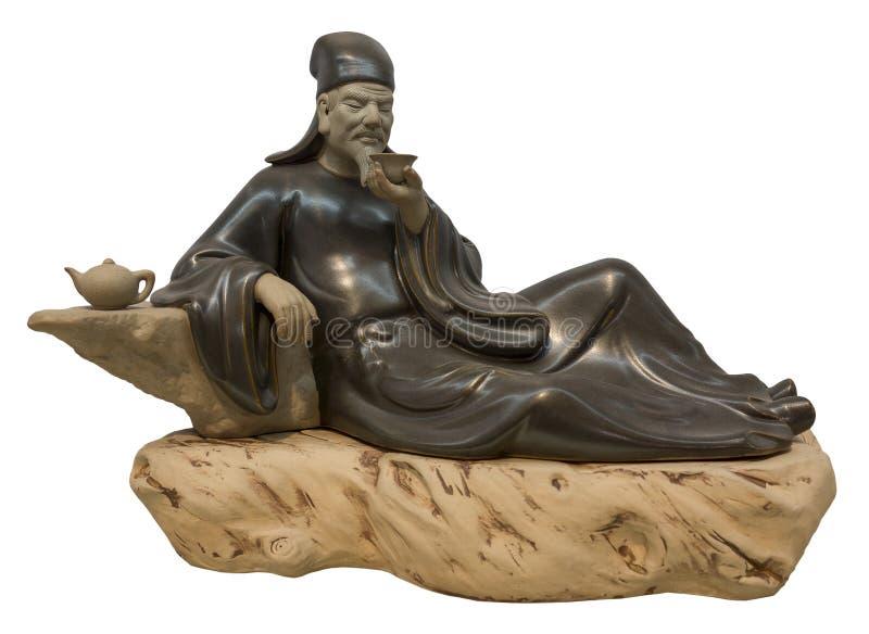中国陶瓷雕象 免版税库存照片