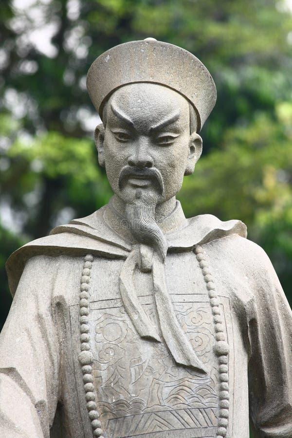 中国雕象战士 免版税库存照片