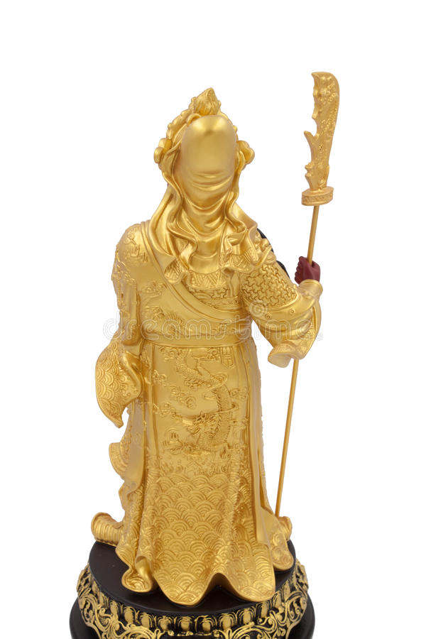 中国雕象战士 免版税库存图片