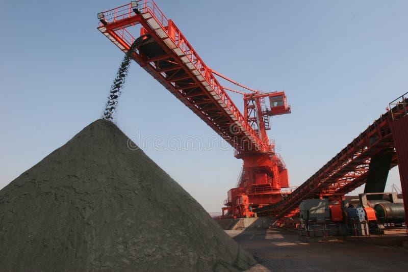 中国青岛端口采煤终端 库存图片