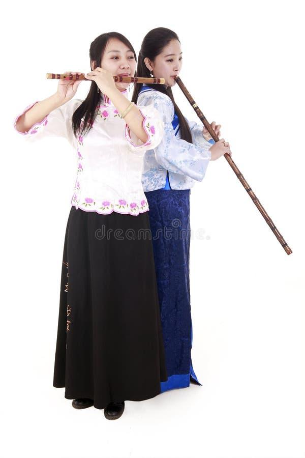 中国音乐家二 库存照片