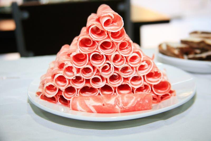中国食物热的罐-食物材料 库存图片
