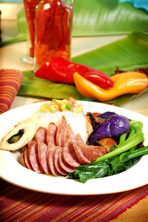 中国食物越南语 免版税库存照片