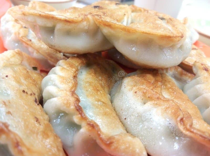 中国饺子油煎了 库存图片