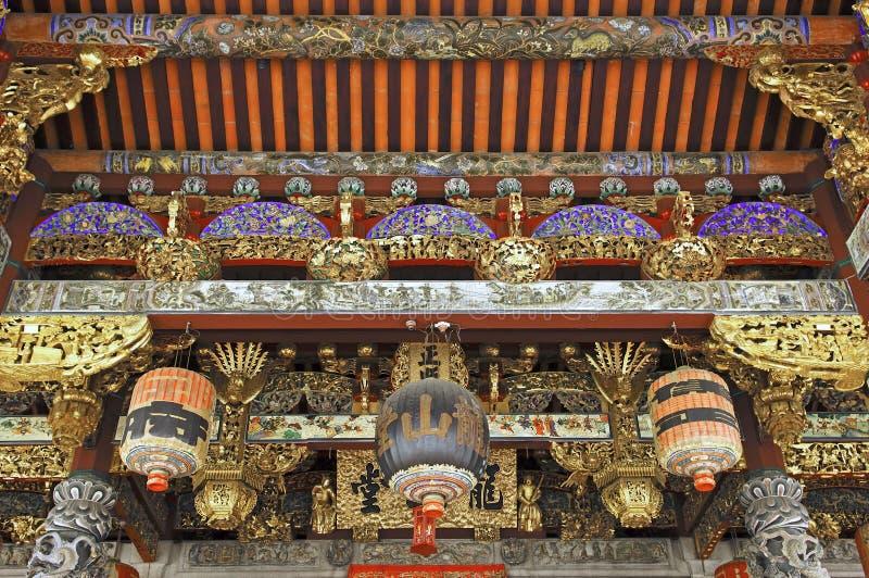 中国马来西亚槟榔岛寺庙 免版税库存图片