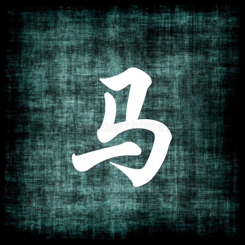 中国马符号黄道带 向量例证