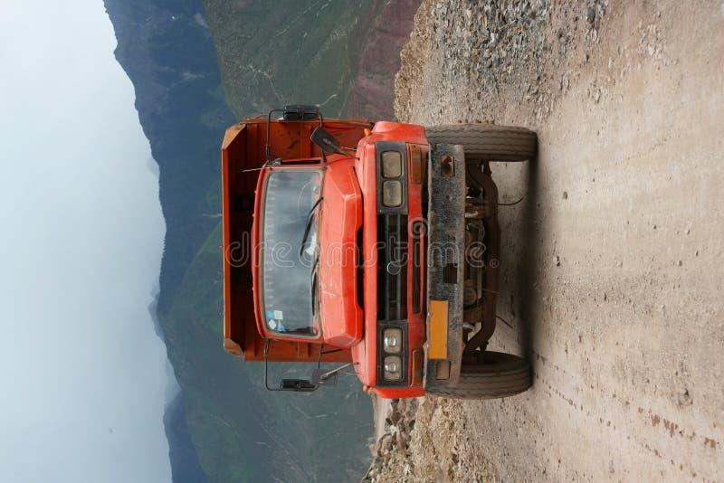 中国驱动的西藏卡车 库存照片