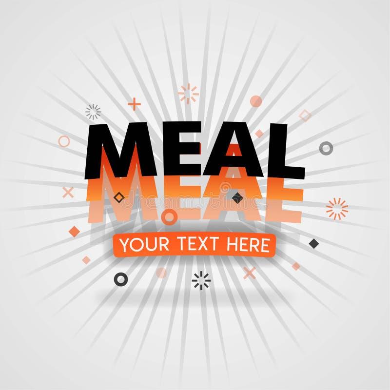 中国鸡食谱的膳食商标与食物信息 皇族释放例证